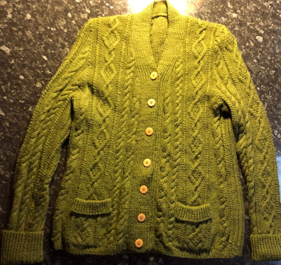 1960's cable knit deadstock cardigan