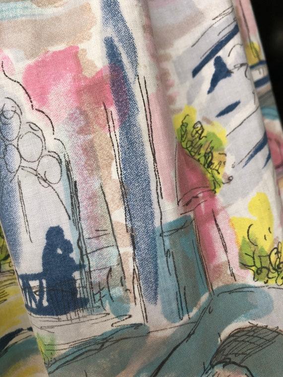 NOVELTY PRINT 1950's skirt - image 5