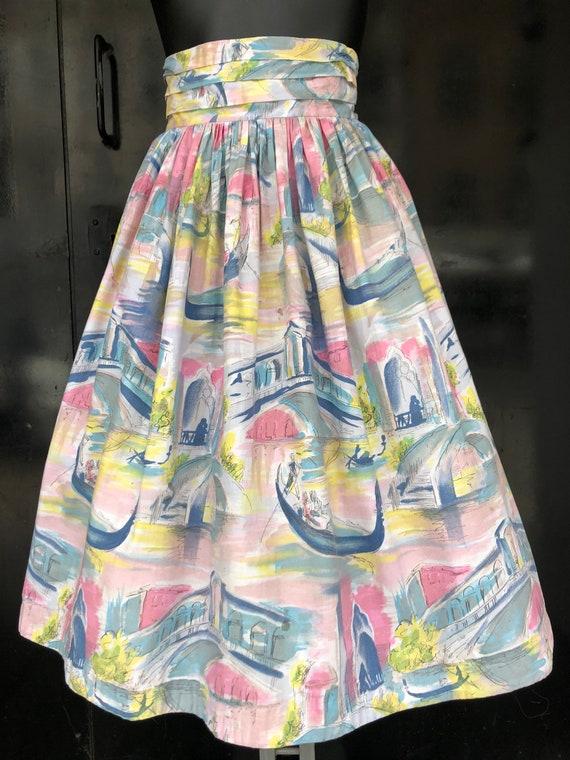 NOVELTY PRINT 1950's skirt - image 1