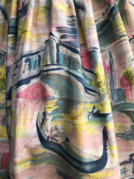 NOVELTY PRINT 1950's skirt - image 3