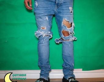 Thrashed Zipper Jeans