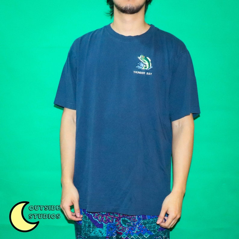 Oversized Embroidered Bass T-shirt image 0