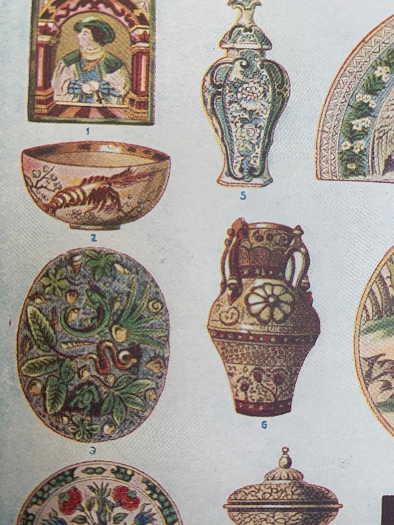 Vintage Ceramic Art Print