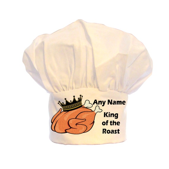 PERSONALISED BAKING KING STICKMAN PRINT CHEFS HAT BBQ 100/% POLYESTER GIFT
