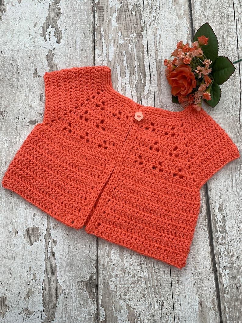 Hand crochet Baby Cardigan 03 months
