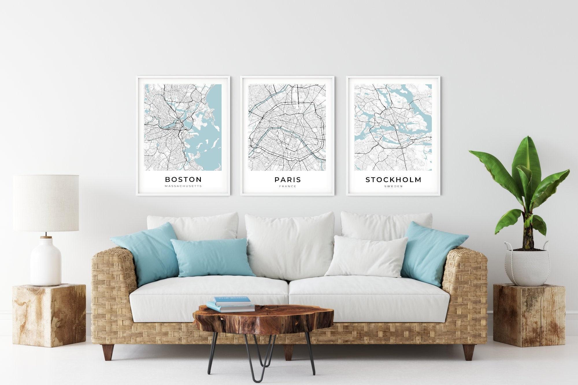 Stampa personalizzata di mappe di qualsiasi città o area del mondo