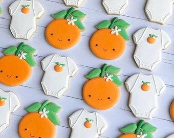 Cuties Tangerine Shower Cookies FREE SHIPPING Baby