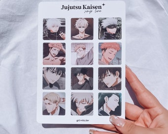Jujutsu Kaisen inspired Aesthetic Semi-Waterproof Sticker Sheet