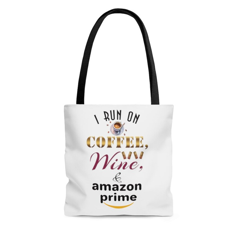 Funny Tote I Run on Coffee Tote Bag Gift for Her Wine /&