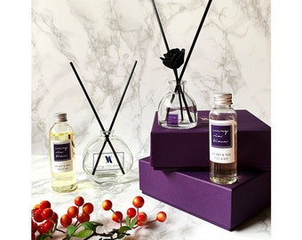 10 Mixed Sola Flower With Reed Diffuser For Home Fragrance Etsy