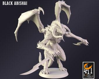 - Ready to ship. Shadow dracolisk Handpainted D/&D miniature half dragon half basilisk