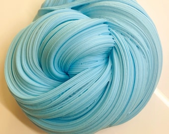 UK SELLER HOMEMADE NEW AUTHENTIC GLOSSY SLIME COTTON CANDY PINK OR BLUE