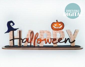 halloween SVG laser cut file Glowforge ,  pumpkin svg , laser cut file , happy halloween decor svg file , svg file for glowforge