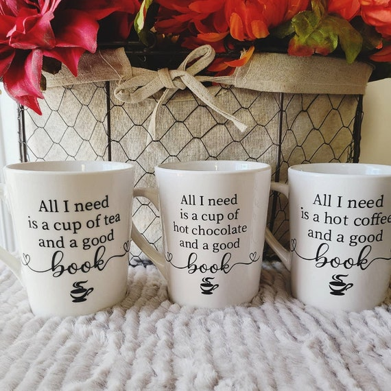 Bookworm Mugs  Bookworm Gift  Coffee Tea Hot Chocolate and