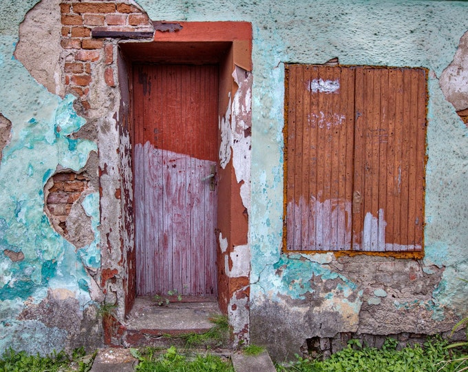 Featured listing image: Photo of an old house in Poland, Poster Print, Dibond, Canvas, Fine Art Hahnemühle