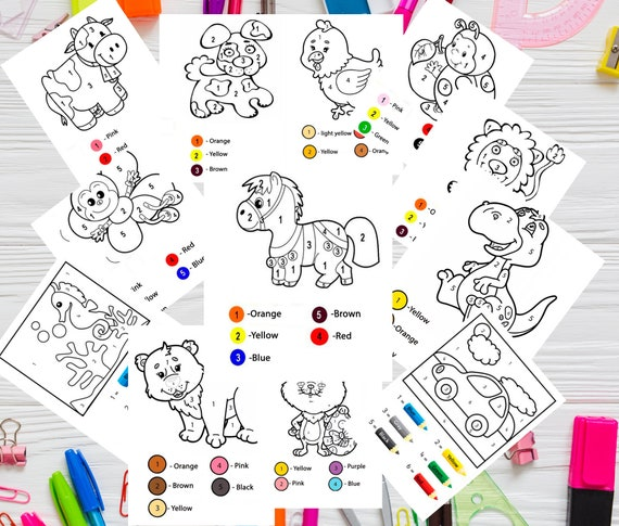 Coloring Pages Printable For Toddler Busy Book 3 Year Old Etsy