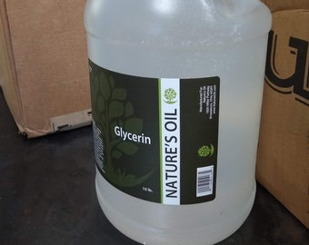 Pure Vegetable Glycerin (Soy-derived), 1 Gallon
