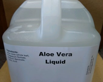 99.8% Pure Aloe Vera Liquid, 1 Gallon