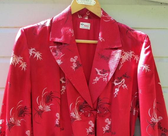 Vintage Midcentury Satin Robe