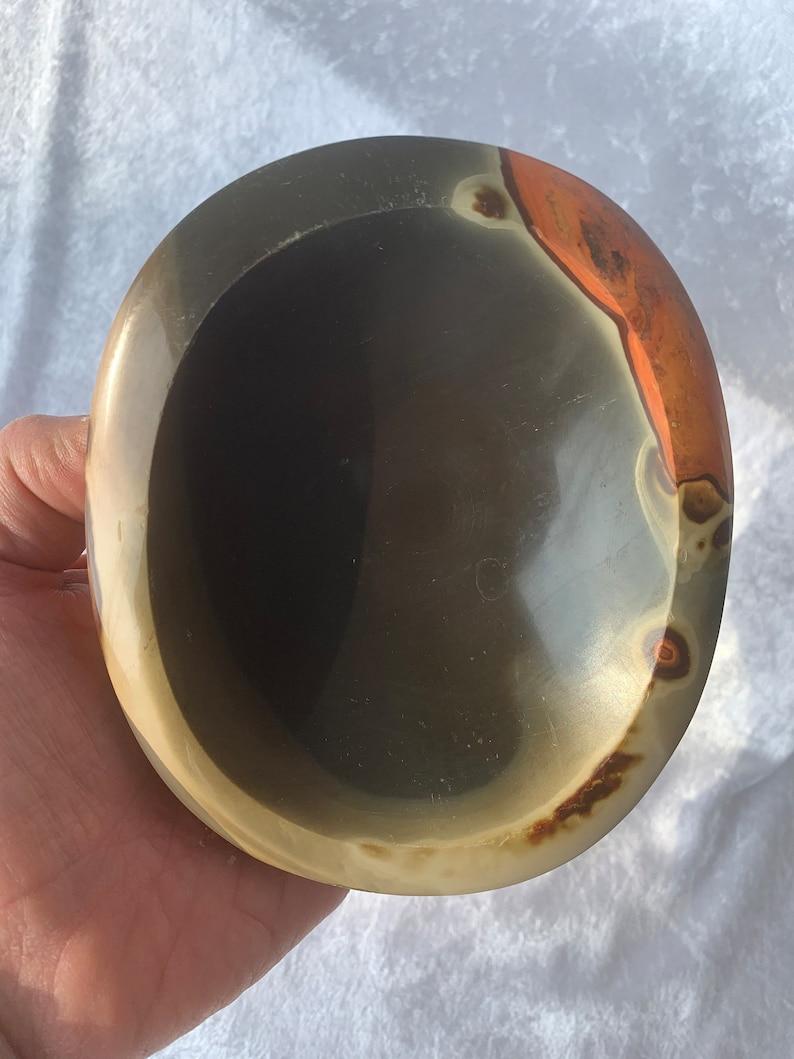 Bright Polychrome Jasper Oval Bowl