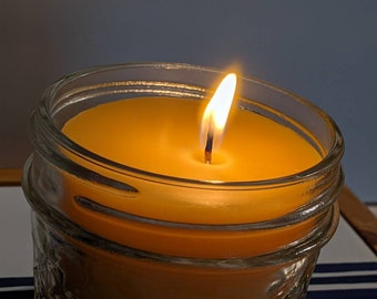 All Natural Beeswax Candles, Homemade, Unscented