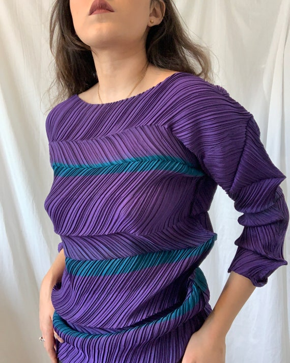 ISSEY MIYAKE Pleated Abstract Top