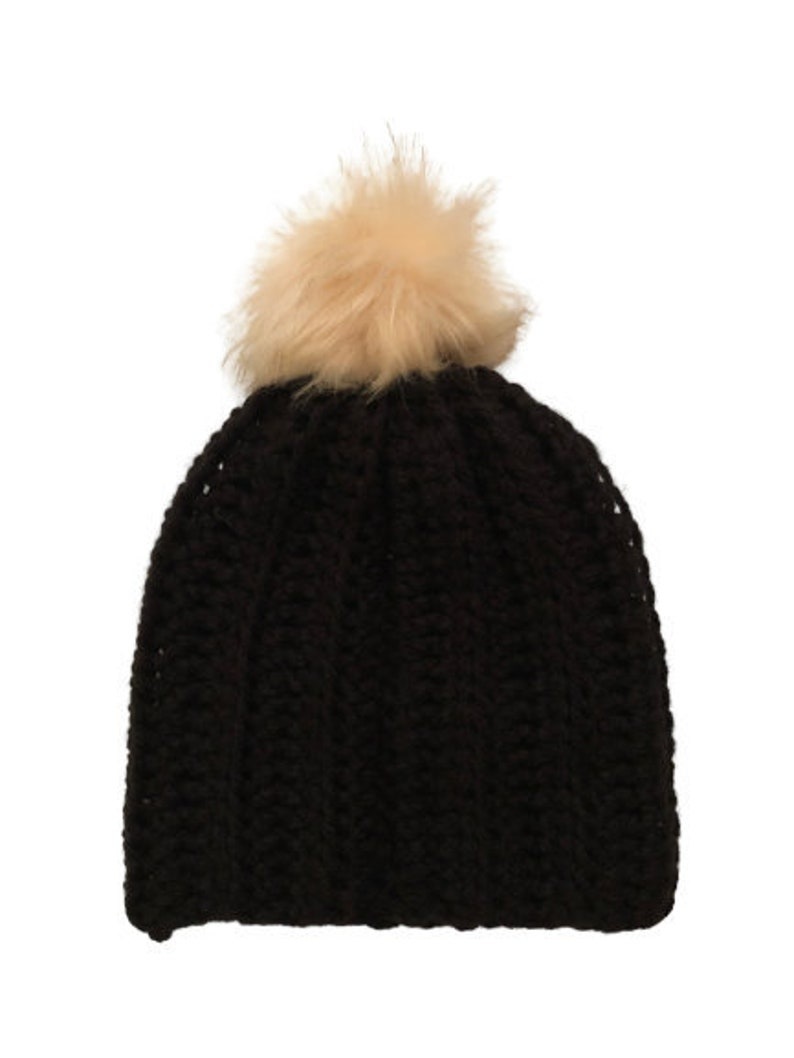 Crocheted Pom Beanie