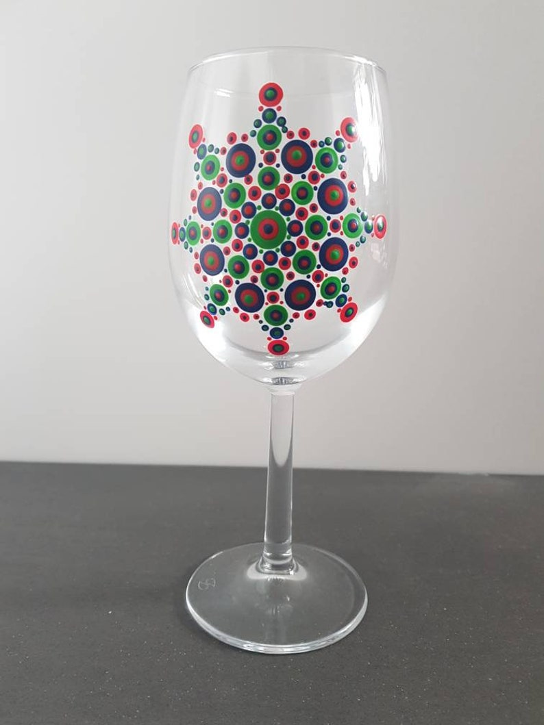 Mandala Wine Glass
