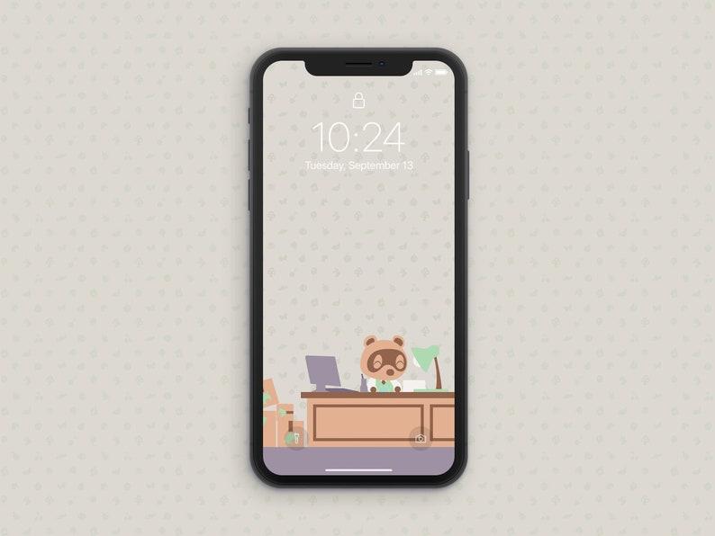 iphone wallpaper animal crossing new horizons logo