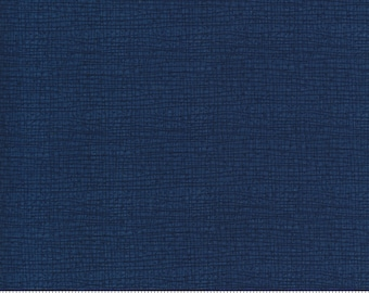 Cottage Bleu midnight thatched blue Robin Pickens for Moda Fabric sold BTY 48626 148 Dark Blue Quilt Quilting