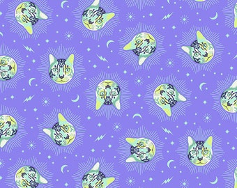 Cheshire Cat Daydream Curiouser and Curiouser Fabric by Tula Pink for FreeSpirit Alice in Wonderland Sold BTY PWTP164.DAYDREAM Quilt