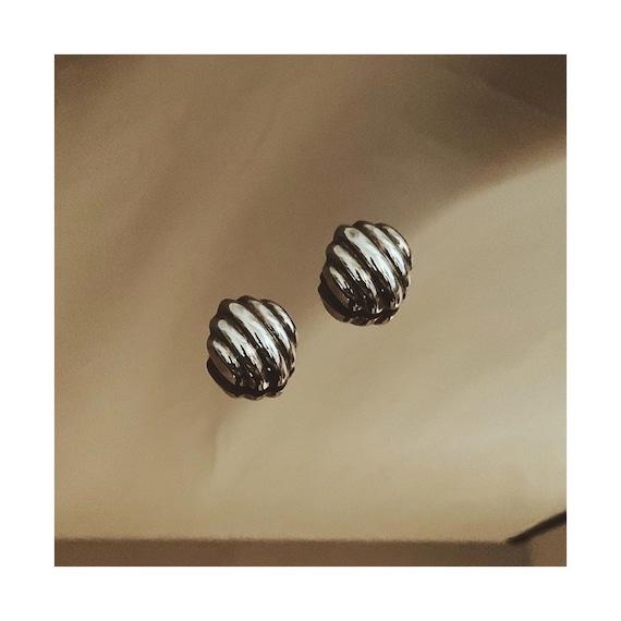 Vtg STERLING  SILVER Clip-On Earrings - image 2