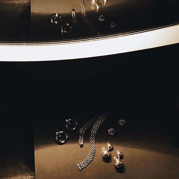 Vtg STERLING  SILVER Clip-On Earrings - image 3