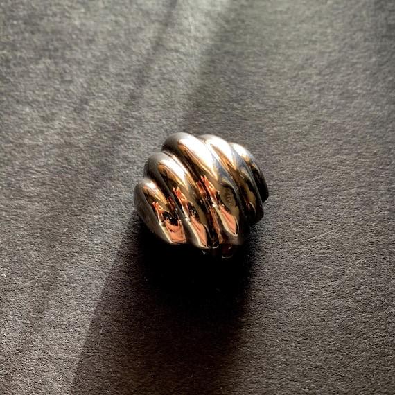 Vtg STERLING  SILVER Clip-On Earrings - image 4