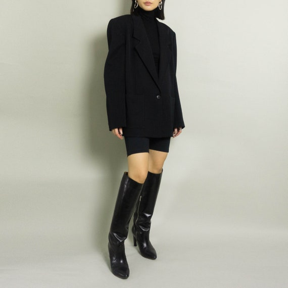 Vintage Oversized HALSTON Blazer   Black   S/M/L - image 1
