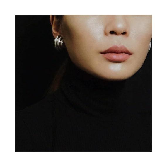 Vtg STERLING  SILVER Clip-On Earrings - image 1