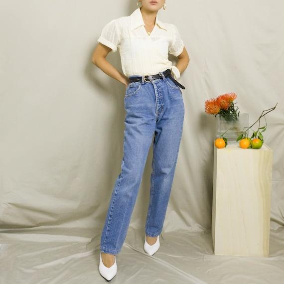 1970's Sheer Cotton Wrap Top | Cream | S