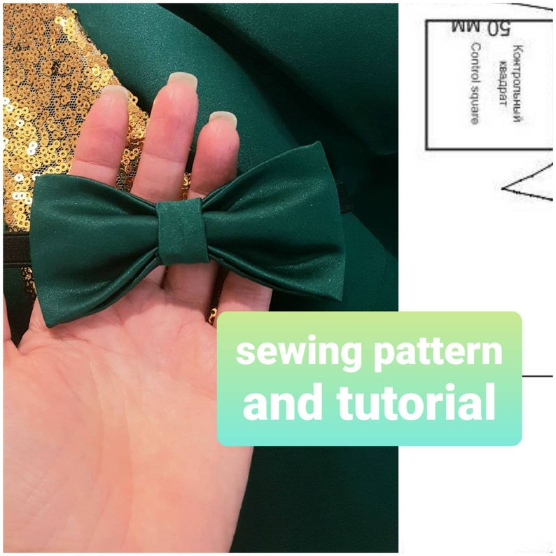 Bowtie sewing pattern Bow tie pattern and tutorial men Bow image 0
