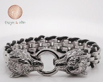 Bracelet with carabiner Geri & Freki