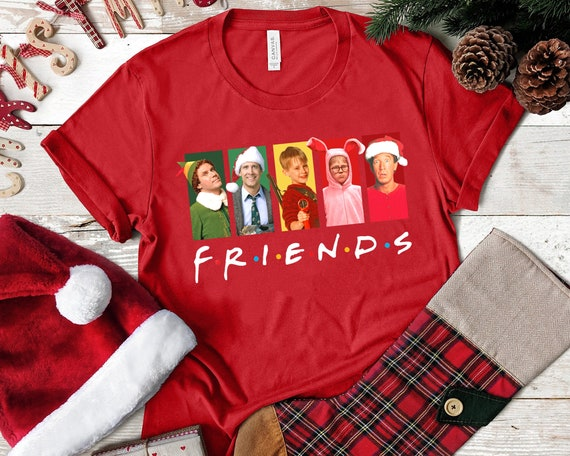 Gift for Wife Christmas Friends Tshirt Fun Grinch Santa Ralphie Cousin Eddie Kevin Clark Griswold Christmas Story