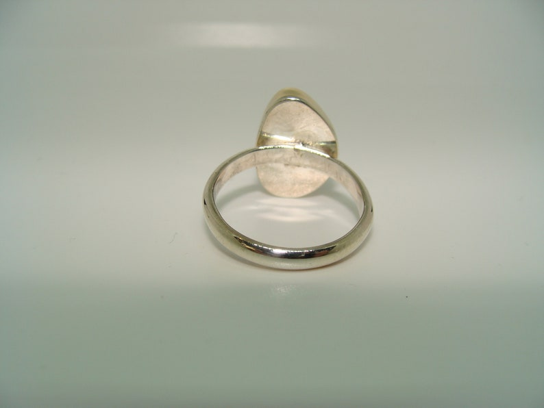 Sterling Silver and 14kt Gold Fire agate ring