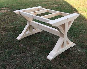 Trestle Table Legs Etsy