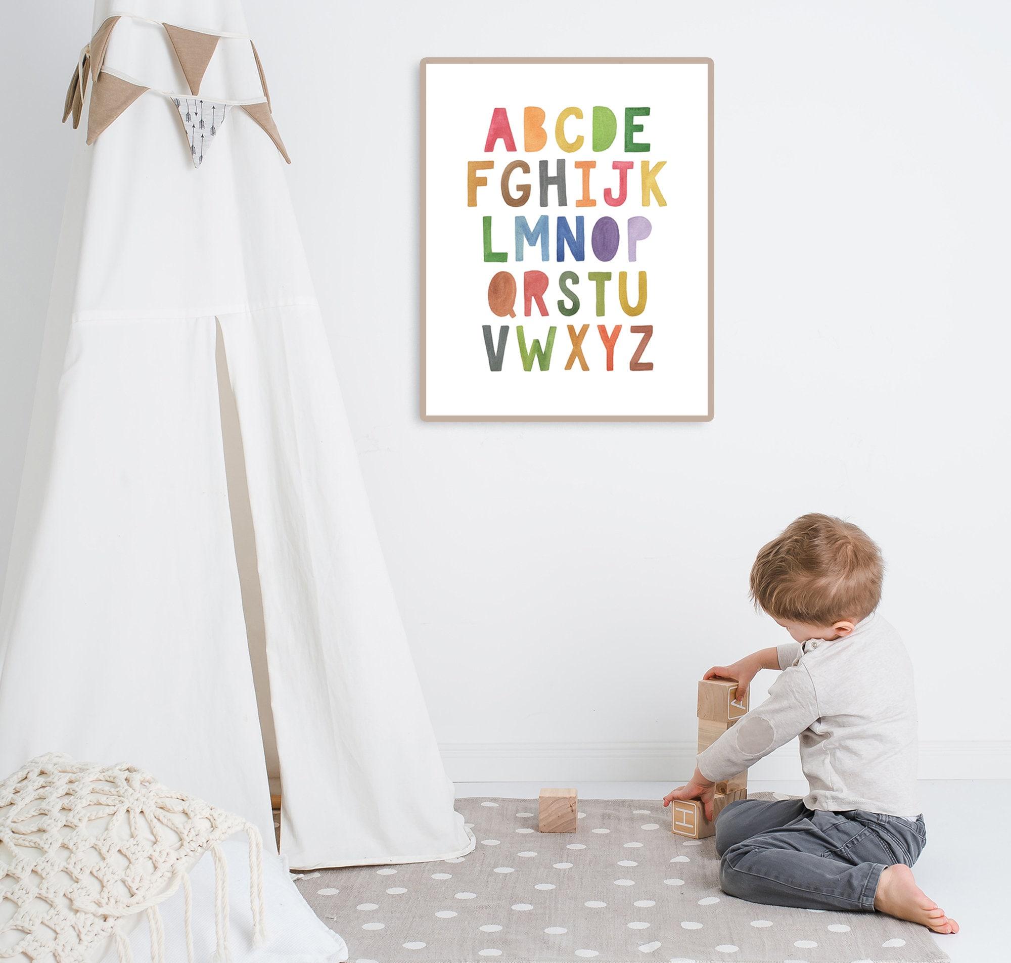 abc alphabet poster lernen home school vorschule poster  etsy
