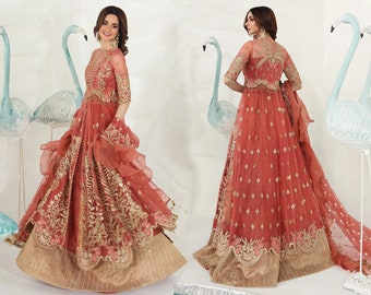 Pakistani Wedding Dress Etsy