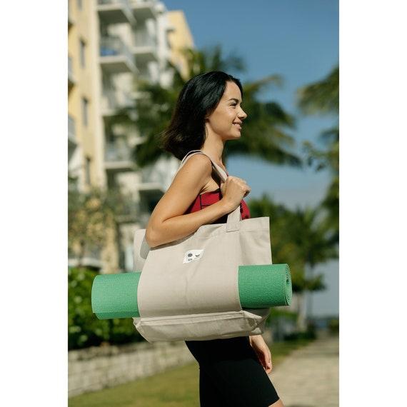 Hand Dyed Bag Hand Dye Yoga Bag Yoga Mat Bag OAK Dyed Yoga Bag Pilates Bag Yoga Mat Carrier Yoga Yoga Bag Strap Yoga Bag Pocket