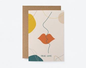 True Love - Love & Anniversary card