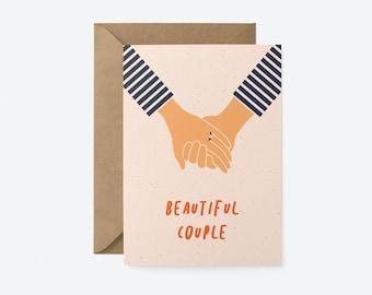 Beautiful Couple - Engagement & Wedding card