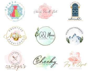 custom logo design for your Big and Smal business with social media and business card kit