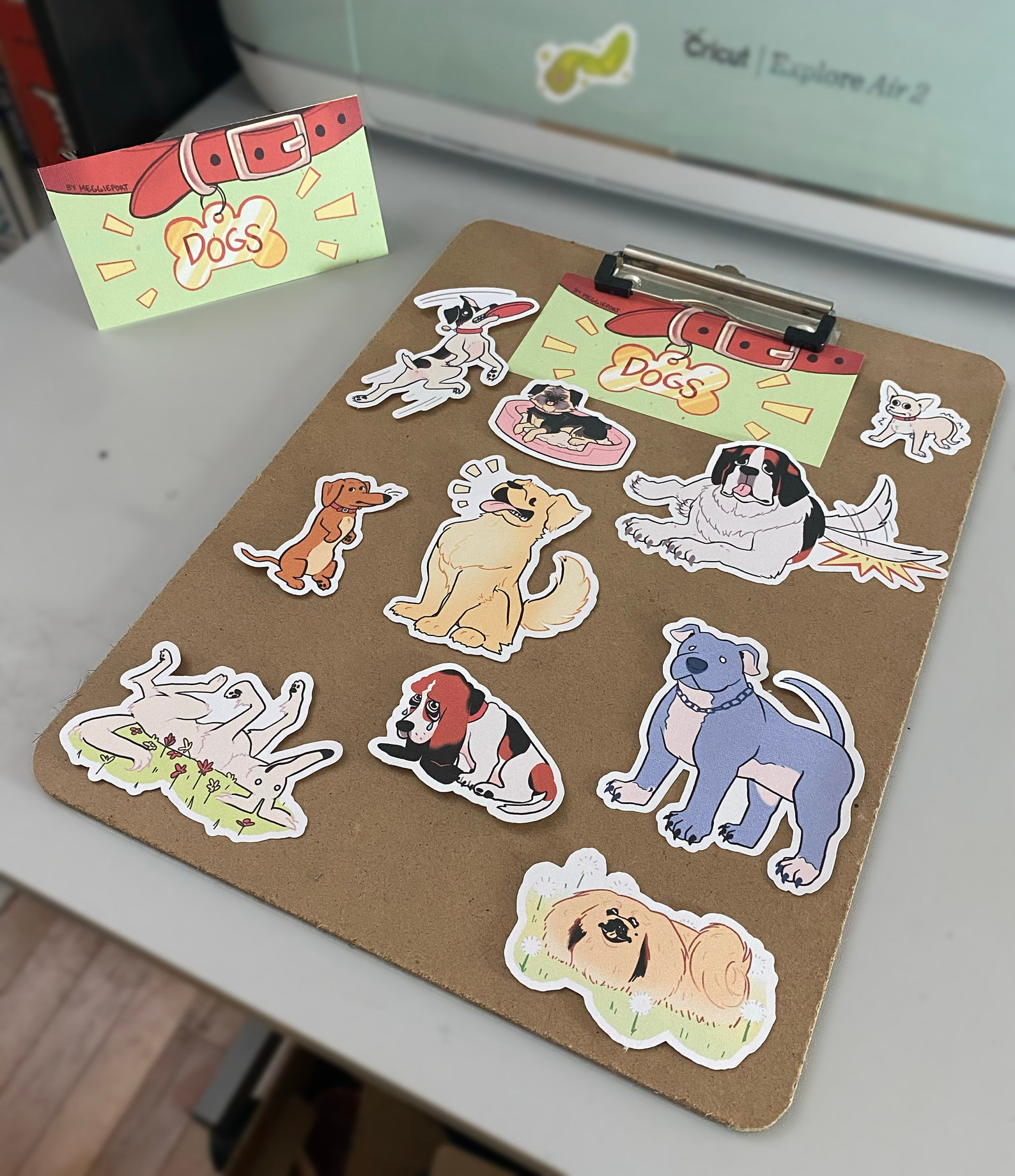 various doggie stickers