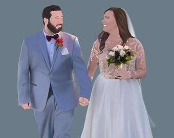 Custom Digital Portrait Illustration | Digital File Portrait